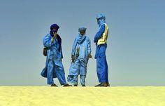 Tres tuareg, grupo más insigne de los berberisco