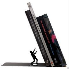 Falling Bookend The End Fred Friends Artori Design Metal Book End Novelty Gift | eBay