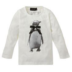 ペンギンリボン付き長袖Tシャツ