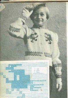 Pikesett med trollkjerring Colour Combinations, Vintage Knitting, Knitting Patterns, Barn, Baseball Cards, Girls, Color, Color Combos, Toddler Girls