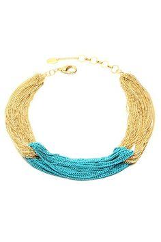Colorblock Multi-Chain Link Necklace