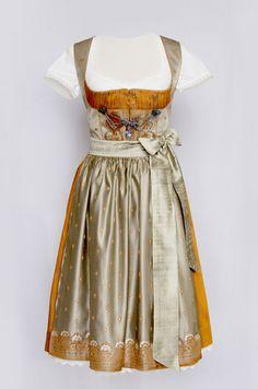 the classical Bavarian **Dirndl** made from indian sari fabrics...