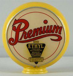 Original Premium Ethyl Yellow Rippled Body Gill Gas Globe