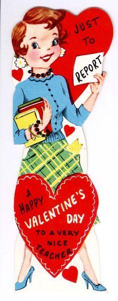1960's Pretty Teacher Valentine