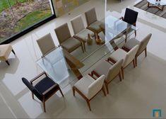 Proyecto: Comedor de 10 plazas fabricado en Madera sólida de Encino Americano y cubierta de cristal templado |  #moblamx #muebles #interiorismo #interiordesign #leon by moblamx