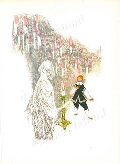 Godfather Death 1960s Fairy Tale Illustration by Jiri Trnka SeagullIsland on Etsy $8.00