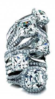 Mark Patterson Engagement Rings Stack.