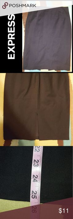EXPRESS BLACK PENCIL SKIRT SZ 10 SKIRT IS LINED. PLEASE FEEL FREE TO MAKE AN OFFER!!! Express Skirts Pencil