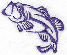 Bass fish pattern