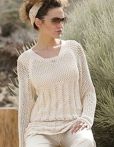 Ravelry: #25 Raglan/Lace Sweater pattern by Verena Design Team
