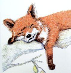 Fox Animal Watercolor Painting Illustration Wall Art nursery decor baby 8x10 Archival Art Print. $15.00, via Etsy.
