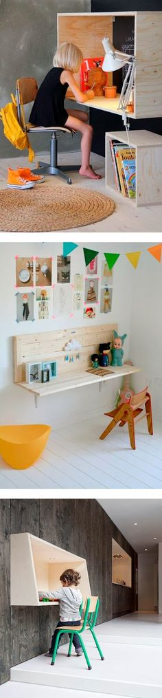 Love the square desk!