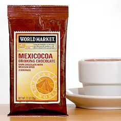 SCENE 3-A: We head to the kitchen to make breakfast and drink it down with World Market Mexicocoa Drinking Chocolate.