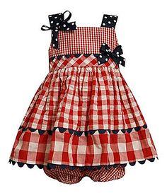 Bonnie Baby Infant American Flag Seersucker Dress   Dillards.com