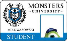 Meet the Students and Staff of 'Monsters University' with New Posters and I.D. Cards