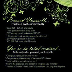 Enjoy special pricing perks on this life changing product line! Become a loyal customer today and It Works! Global will provide the fab results. BOOM! http://jrwalton.myitworks.com