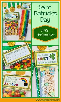 St. Patrick's Day Printables for FREE. Use when sending a care package, for treat bags your kids bring to school, for anyone you feel LUCKY to have in your life!