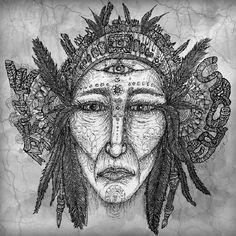 """ Apache"" Digital Ilustration.  All Right Reserved.  María Salcedo."