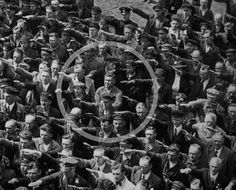 """A picture of courage in Nazi Germany."" - John Piper  ...August Landmesser was a worker at the Blohm + Voss shipyard in Hamburg, Germany, and is best known for his appearance in a photograph refusing to perform the Nazi salute on 13 June, 1936..."