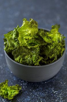 If you're looking for a healthy snack that's easy to make and crunchy delicious try these kale chips. Even your kids won't realize that they're eating a vegetable!  #HealthySnack #KaleChips