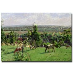 Hillside of Vesinet, 1871 by Camille Pissarro Painting Print on Wrapped Canvas