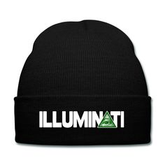 "Illuminati Beanie - Another Simple black beanie with a rim and on the rim are the words ""Illuminati"" in white with the A changed into the illuminati symbol. I really quite like this beanie, mostly because of the recent Illuminati Conspiracy going around lately."