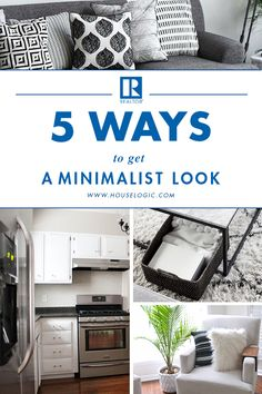 Real life is messy – but that doesn't mean your home can't achieve a simple, clean look. Here are 5 ways to get a minimalist style with minimal effort. Minimalist Home Interior, Minimalist Living, Minimalist Style, Minimalist Lifestyle, Modern Interior, Organizing Your Home, Home Organization, Layout, Tips & Tricks