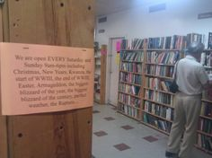 The Book Thing of Baltimore, a bookstore where all books are FREE