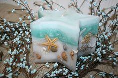 Seashell  Candle  Star with Sea Shells - Sand and Sea Spray Fragrance. via Etsy.