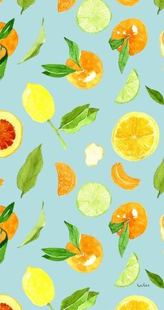 pattern, fruit, and wallpaper Animal Print Wallpaper, Food Wallpaper, Watercolor Wallpaper, Pastel Wallpaper, Iphone Wallpaper Orange, Summer Wallpaper, Aesthetic Iphone Wallpaper, Phone Backgrounds, Wallpaper Backgrounds
