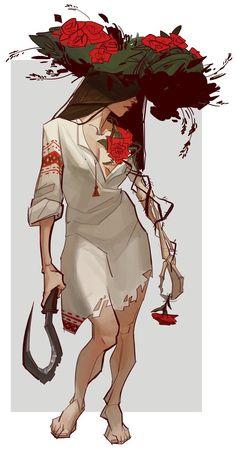 Woman concept art by gewska