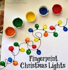 Fingerprint Christmas lights