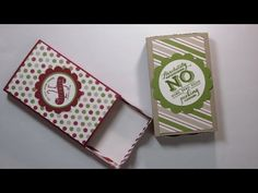 Stampin' Up! Envelope Punch Board Matchbox - YouTube