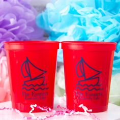 Are you having a family reunion this summer? Our Beach Trip, Sailboat Family Reunion Party Cup is the perfect addition to your party of event! - Yippee Daisy