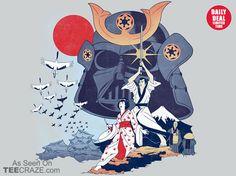 Samurai Wars T-Shirt - http://teecraze.com/daily-deal-1/ - Designed by KindaCreative. Ok, I need this for so many reasons.