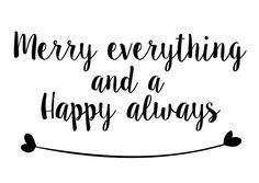 Leuke, lieve en originele kerstkaart Merry everything and a happy always!