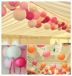 Decoration lampion: ideas to realize - # to # decoration # Wedding Decoration Pink Yellow Weddings, Decoration Communion, Lanterns Decor, First Holy Communion, Wedding Stage, How To Make Ornaments, Girl Shower, Holidays And Events, Special Day
