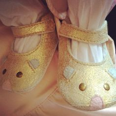 Marc Jacobs baby shoes. @Anthea Sayer You should get some of these! They're adorbs!