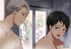 #viktor #yuuri #yoi (that one person praying in the back is me thanking God I'm alive to see this ship set sail XD)