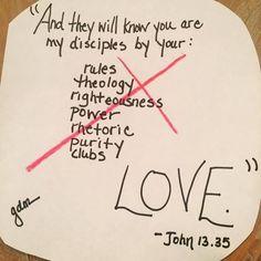 First Draft of John 13:35