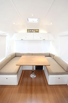 Dinette, http://hofarc.com/portfolio-item/vintage-airstream-for-adventurous-family/