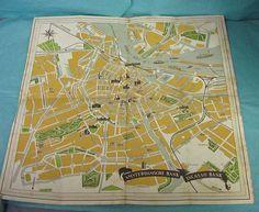 1950's Amsterdam Holland Bank Brochure Map Vintage Tourist Souvenir Advertise