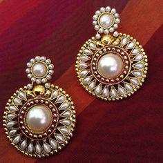 Online Shopping For Designer White Pearls Earrings