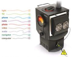 45 Вт Термоэлектрический Генератор на боковой поверхности печи.