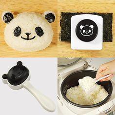 Panda bento box rice mold. I must have!!!