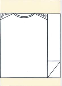 Template for a rectangle Football shirt cake