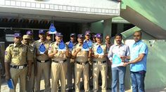 It is really an proud moment for #WalkforWater to have  #RaidurgamPoliceFraternity, headed by Shri. Srikanth Garu, Circle Inspector group pledging for saving water and showing a notion of thier responsibility as a citizens of country. Thanks to you all at Raidurgam Police Station and Shri. Srikanth Garu (CI) for showing your true spirit in pledging for Blue Revolution Club and Walk for Water.