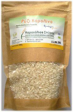Ρύζι καρολίνα βιολογικό 'Μεσολογγίου γεύσεις' Ελληνικά βιολογικά προϊόντα 'Μεσολογγίου γεύσεις'  Παραγωγός: Καραχάλιος Σπύρος - Πιστοποιημένος Βιοκαλλιεργητής - Μεσολόγγι