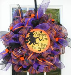 Deco mesh wreath!