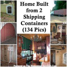 The Homestead Survival | A Home Built from 2 Shipping Containers (134 Pics) | http://thehomesteadsurvival.com